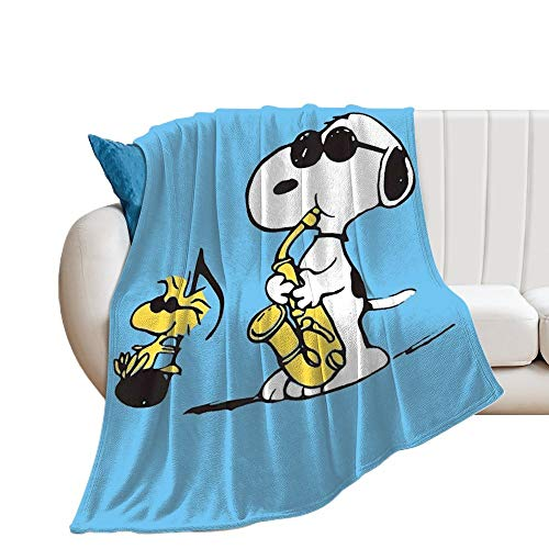 Custom made Manta Snoopy Manta suave transpirable para guardería y cuna, manta para cochecito de bebé, perfecta para cama doble, universal, 150 x 130 cm