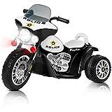Playkin POLICE NEGRA - Moto electrica niños policia bateria 6V...