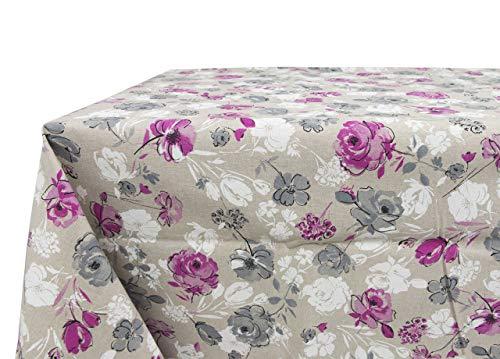Nappe en 100% coton fantaisie rose 140x240 rose