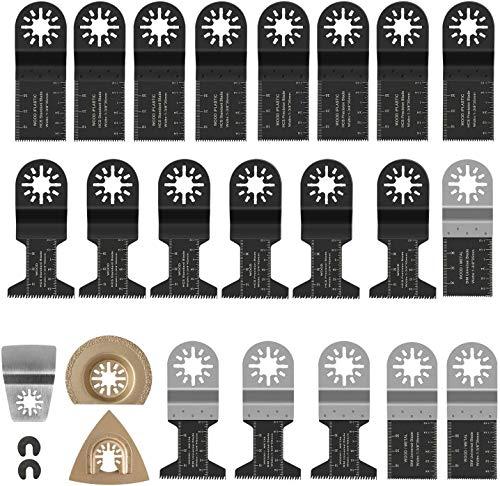 23 tlg Sägeblätter Kit,oszillierwerkzeug metall,Oszillierende Multitool Sägeblätter,Multifunktionswerkzeug Mix Klingen für Fein Multimaster,Bosch