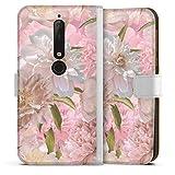 DeinDesign Étui Compatible avec Nokia 6.1 Étui Folio Étui magnétique Floraison pour Les Filles...