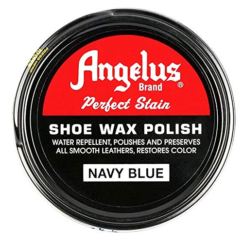 Angelus Brand Perfect Stain Shoe Wax Polish, 3 fl.oz, Navy Blue
