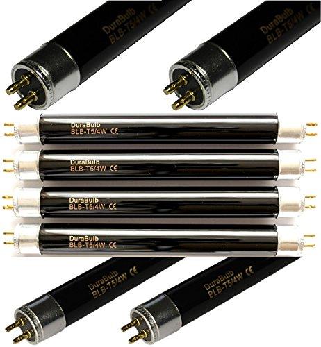 4 x DuraBulb UV-Leuchtmittel für Geldscheinprüfer, F4 T5 BLB, 4 W, L112 A, für Mercury oder Eagle Geldscheinprüfer