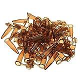 HIUHIU 100pcs / Set 1,5 ml de ensayo de centrífuga de Botella de la Muestra Tubo de plástico marrón con Cierre de Bayoneta para el Equipo de Laboratorio,200pcs