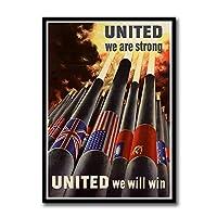 ZNNHERO第二次世界大戦の宣伝ソビエト連邦ソビエト連邦Ussrcccpポスター印刷壁アートキャンバス絵画リビングルームの装飾-50X70Cmx1フレームなし