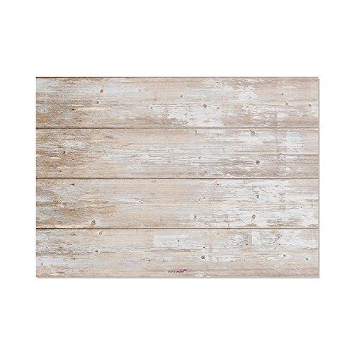 100 Sets de table avec une optique de bois usé | DIN A3 rectangle I Sous-mains napperon papier marron clair, décoration modern usage unique| dv_121