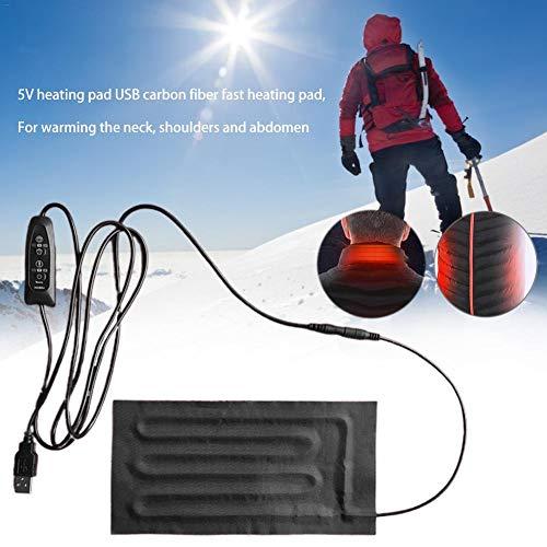 Funnyfeng Warmtekussen, USB-verwarmingskussen, handdoeken, snel verwarmbaar, 5 V, 2 A, opvouwbaar en waterdicht, voor de warmte van buik tot nek