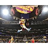 Los Angeles Lakers LeBron James Slam Dunk Photo. 8x10 Photo Picture