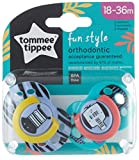 Tommee Tippee Closer to Nature - Chupetes, 2 unidades, diseño Fun, para 18-36...