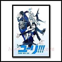 百合!!!アイスアニメのポスター絵画上塗を施してある紙ポスター壁のアート装飾的な絵のための絵のための装飾的な写真 (Color : 20, Size : 42X30cm)