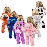 XYSQWZ Poupée de Corps Doux avec des Cheveux Mignon Animal Combinaison vêtements Manteau pour 18 Pouces Mode Fille américaine poupée-ne Pas inclure Les poupées (f-Vaches)