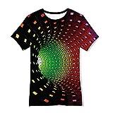 TUONROAD 3D T-Shirt pour Enfant Garçons Fille Manches Courtes 10-12 Ans