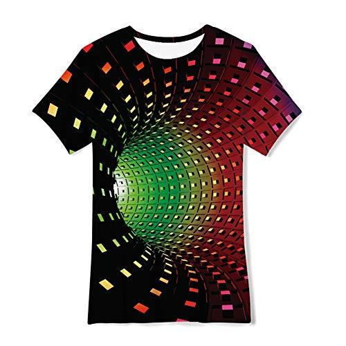 TUONROAD Ragazzo Ragazze T Shirt Divertente 3D Turbine Colorato Tee Bambini Maglietta 14-16 Anni