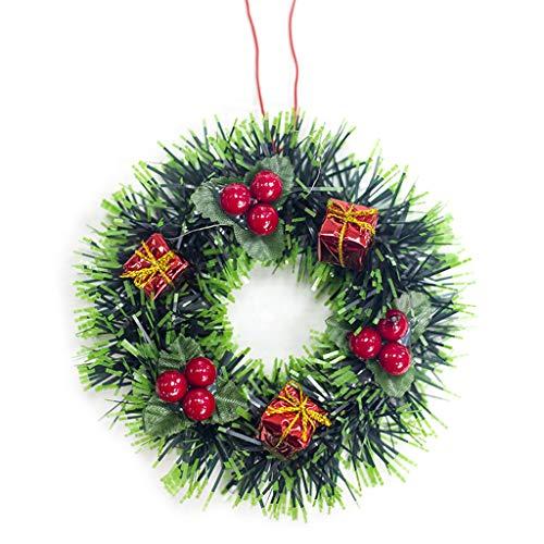JIACUO Kerstkrans dennenappel decor voor kerstfeest deur muur opknoping slinger boom Ornament