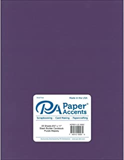 Paper Accents Cardstock 65 lb Purple Majesty Stash Builder, 8.5