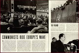 5-PG 1944 Article ON Communism Filling Gaps in Europe Original Paper Ephemera Authentic Vintage Print Magazine Ad/Article