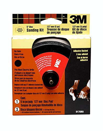3M 5-in Disc Sander Kit, Adhesive Backed, 1-Kit (9176)