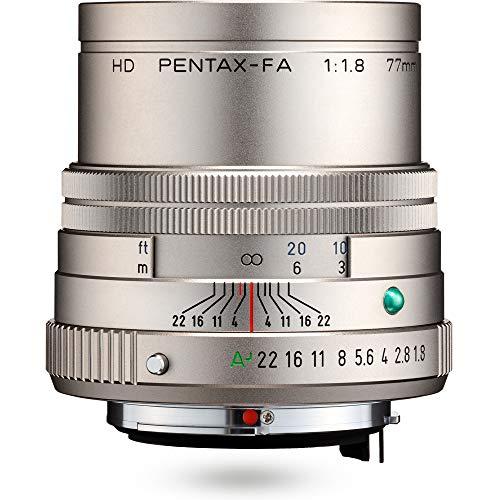 HD PENTAX-FA 77mmF1.8 Limited Silver Limited Medium teleobiettivo obiettivo primario, rivestimento HD ad alte prestazioni, rivestimento SP, membrana rotonda, corpo in alluminio lavorato
