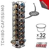 Tavolaswiss MAESTRO Kapselspender für 32 TCHIBO Cafissimo/K-Fee/Expressi ALDI Kapseln, 360° drehbar