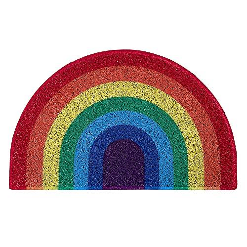 Nicoman Regenbogenfarben Fußmatte Einweihungsgeschenk Geschenk Schmutzfänger Barriere Fußmatten (70x44cm)