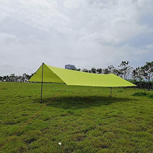 Goodvk Sombra de Vela Solar Tarpa Ultraligera al Aire Libre Acampada Toldo 15D PERGOLA PERGOLA PERGOLA Tienda de Playa a Prueba de Agua Fácil de Usar (Color : Light Green, Size : 3x4m)