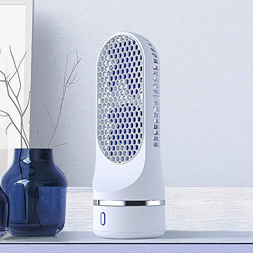 YEYOUCAI Ventilador de Torre de Cabeza de agitación automática Ventilador de Doble Espiral de Carga USB de Escritorio