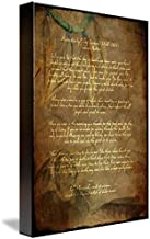 Imagekind Wall Art Print Entitled Printstecumseh Poem Act of Valor Movie by Wayne Moran | 7 x 10