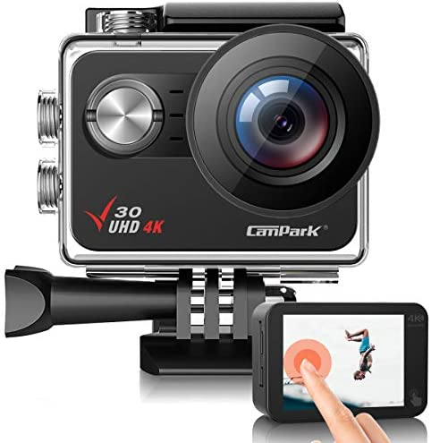 Campark V30 Native 4K Action Camera 20MP EIS Touch Screen WiFi Waterproof PC Webcam with Optional product image