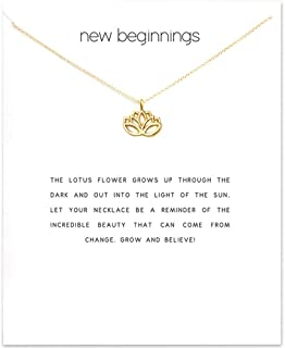 Lotus Necklace with Meaning Card (lotus)
