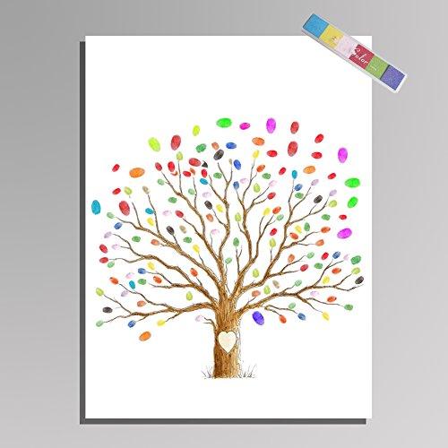 Style : #11 14 Tipos Impresi/ón digital de la huella digital del /árbol de Thumbprint Impresi/ón digital de la boda de la huella digital de la boda //
