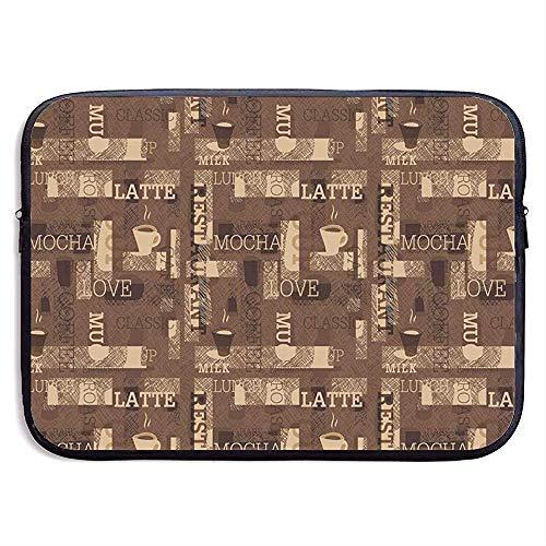 Laptoptas, laptoptas, tas voor laptops, met koffie, Caldo Moka Latte Milk Love 13 Inch 4667