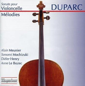 Duparc: Sonate pour Violoncelle Mélodies