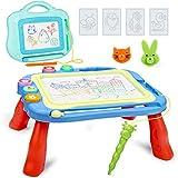 iNeego 2 Pizarra Magnética Infantil, Juguetes Niños 2-8 Años Magnético Pintura de la Escritura Doodle Sketch Pad, Juguetes interactivos niños, Juguetes Educativos, Juguetes para Niños Infantiles