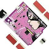 エレクトロクッキー Leonardo R3 ATmega32u4 ボード DIY Arduino工作用 - ピンクエディション