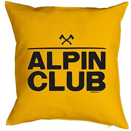 Coussin : Alpin Club Petit présente avec motif imprimé