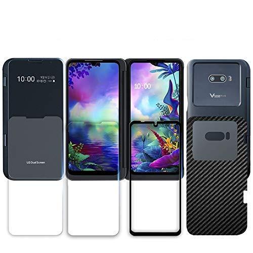 GOBUKEE [5 Stück] Panzerglas Schutzfolie für LG G8X ThinQ Dual Screen [Gehärtetes Glas x 3] [Schutzfolie x 2] Volle Abdeckung / 9H-Festigkeit / Schutzglas Bildschirmschutzfolie für LG G8X (2019)