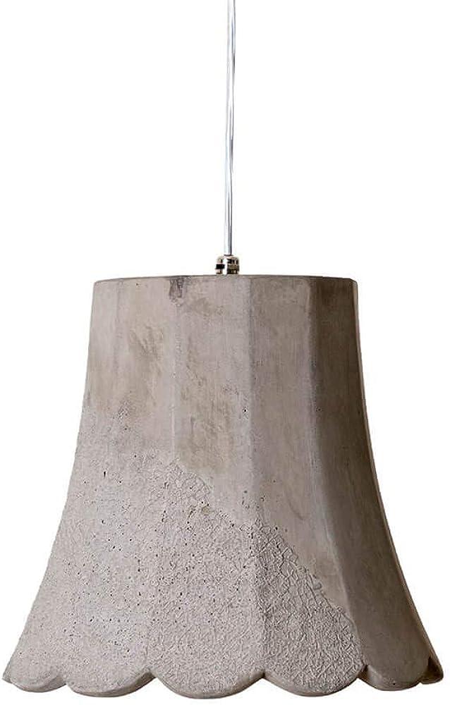 Karman settenani mammolo, lampada a sospensione, in cemento SE685N5
