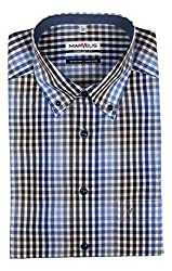 Relaxed Cut for Extra Comfort Wash, Dry, Wear. Stays Smooth the Entire Day! MARVELiS is Subsiduary Brand of Popular OLYMP Shirts Same Excellent Quality - Fantastic Value ex-Factory Shirts - Not in Original Packaging