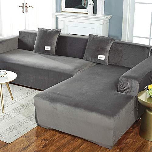 JBNJV Funda elástica para sofá Funda Protectora para Muebles Ajustada Funda para sofá con Estampado Elegante Funda para sofá 1 2 3 4 Asientos (El sofá Tipo L Necesita Comprar Dos Fundas para sofá)