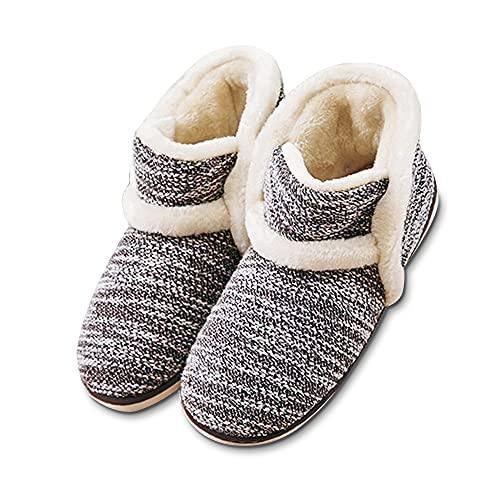 Product Image of the Winter Vintage Boot Slippers Arctic Solid Indoor Coffee 11 B(M) US