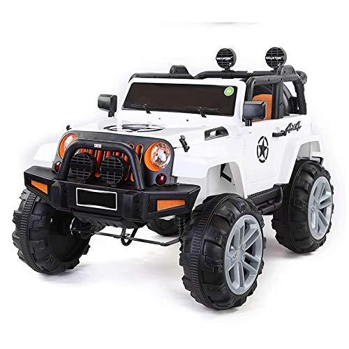 ATAA Bigfoot 4X4 - Blanco - Coche eléctrico para niños a batería con 4 potentes Motores