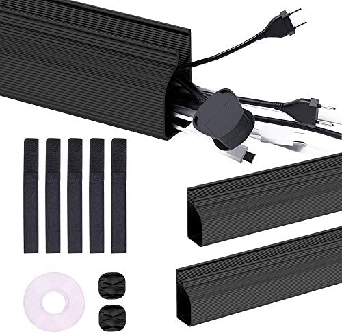 J Channel Cable Raceway Kit 31 inch Desk Cable Concealer Cord Management System for Home Office product image