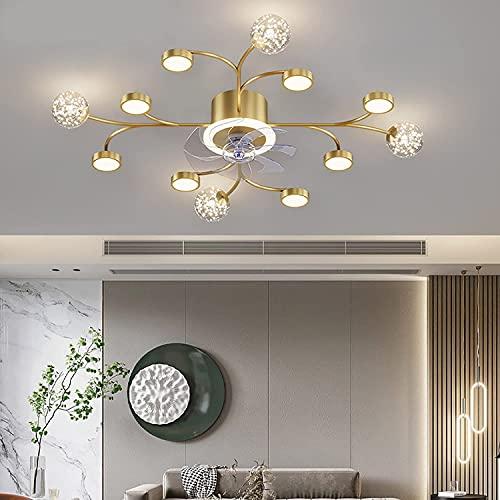 YYhkeby LED Modernos Ventiladores de Techo con lámpara Luz de Techo de Ventilador Regulable con Control Remoto 3000K-6000K Lámpara de Techo de Ventilador Ajustable 94W, 6heads-Black Jialele