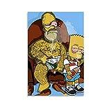 BVNGF Animationsfarbengemälde Homer Jay Simpson Bart