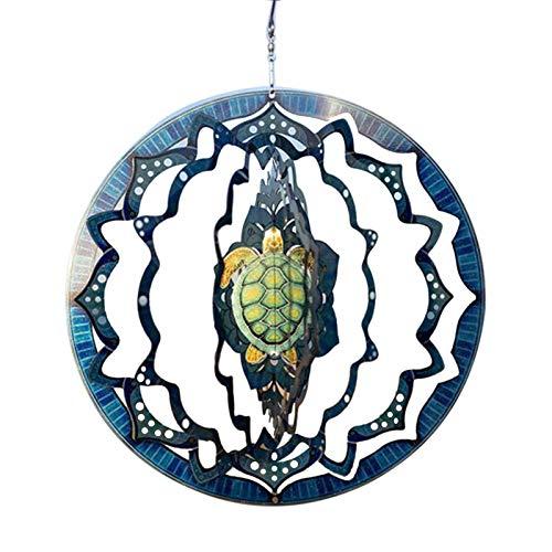 Edelstahl Wind Spinner Edelstahl 3D Wind Spinner Garten Ornament Dekoration 9.849.840.08in