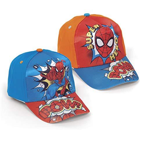 Gorra Spiderman- 2 DISEÑOS SURT. Material: ALGODÓN-Polyester Talla: 51/54-1 Unidad aleatoria