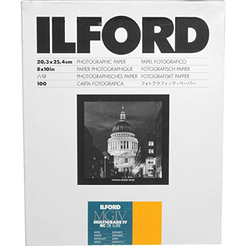 Ilford Multigrade IV 25M Deluxe - Papel para positivado, color blanco y negro