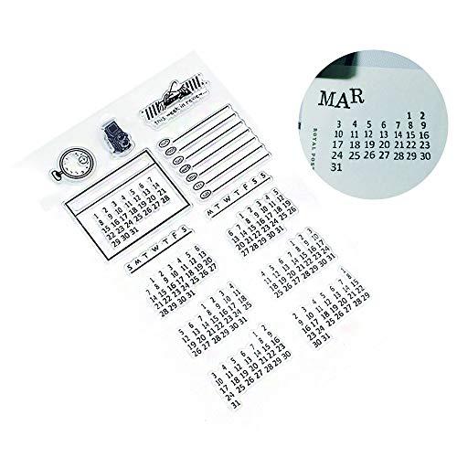 Kalender Silikonstempel Bullet Journal Stempel