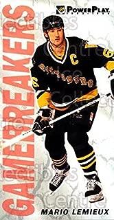 (CI) Mario Lemieux Hockey Card 1993-94 PowerPlay Game Breakers 5 Mario Lemieux