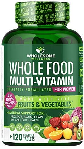 Whole Food Multivitamin for Women Natural Multi Vitamins Minerals Organic Extracts Vegan Vegetarian product image
